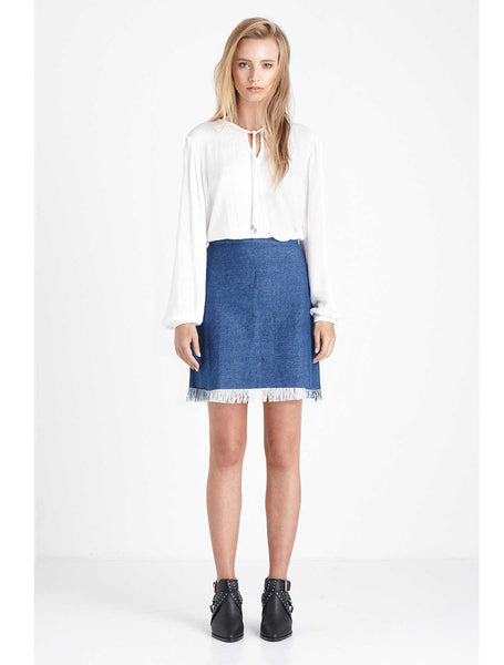 Lennon Skirt - Blue Denim