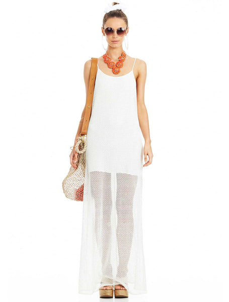 Cotton Crochet Maxi Dress