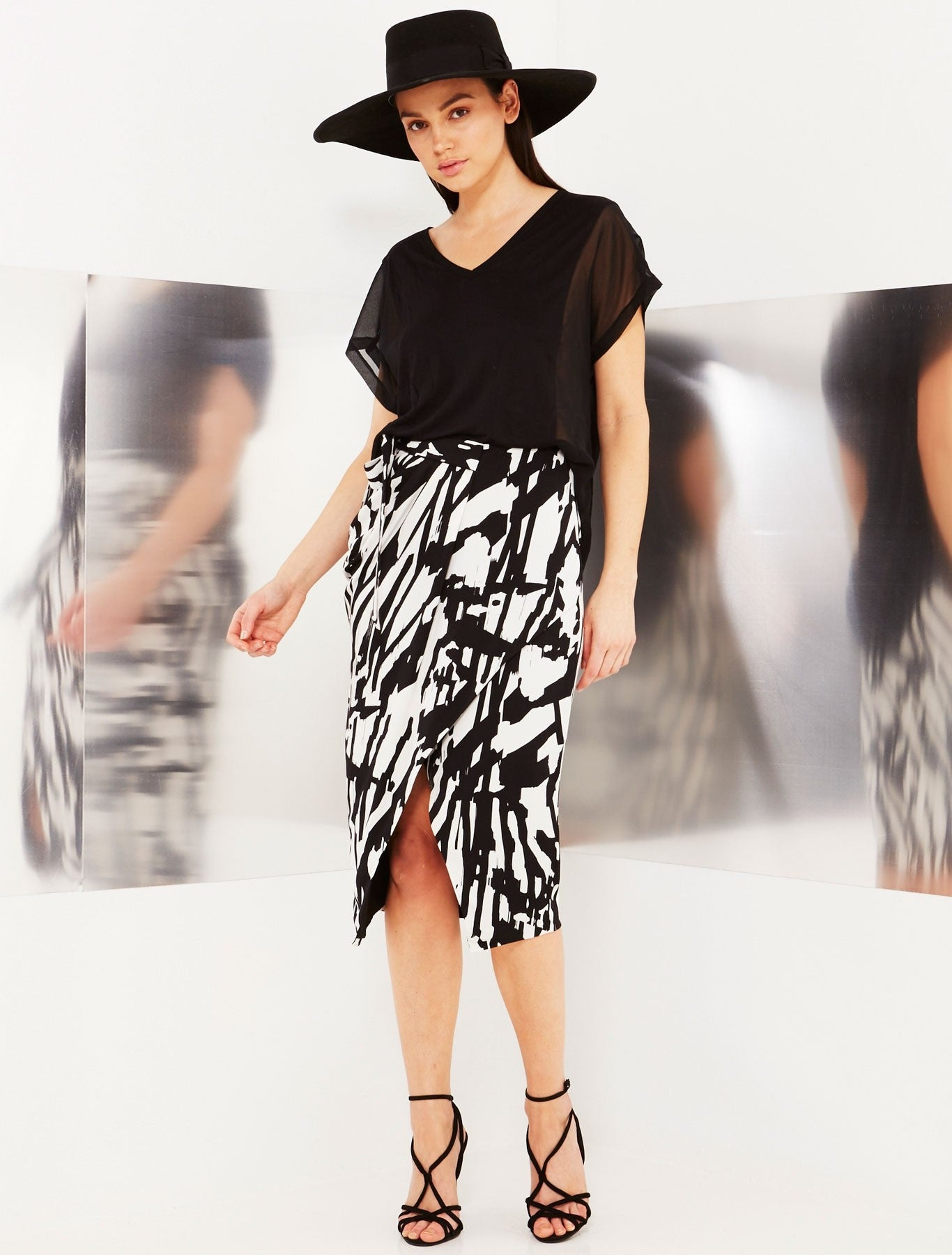 Strokes Wrap Skirt