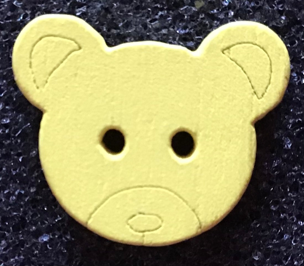 2 holes wooden bear button