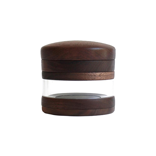 Marley Glass and walnut wood dry herb Grinder