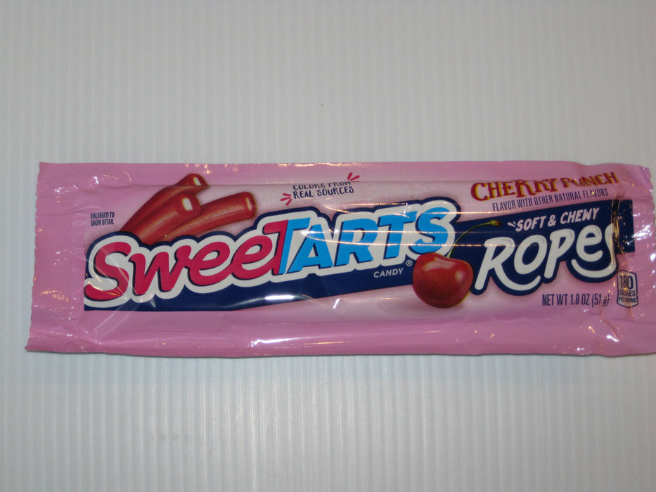 Sweetarts Ropes Cherry Punch 1.8oz pack or 24ct box