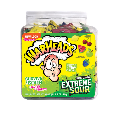 Warheads Extreme Sour Assorted 240ct jar