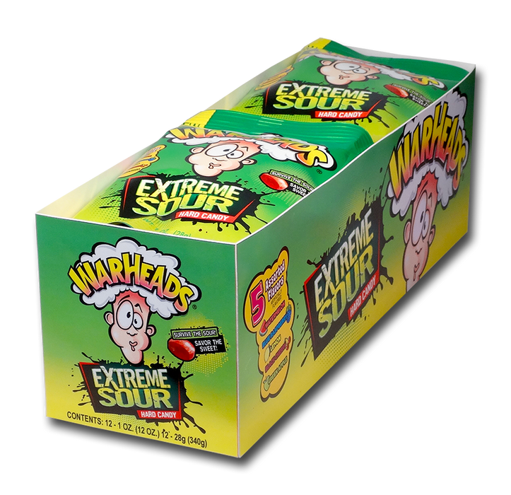 Warheads Extreme Sour Assorted Candy 12ct box