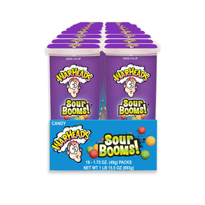 Warheads Sour Booms 18ct Box