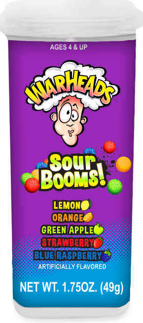 Warheads Sour Booms 1.75oz Container