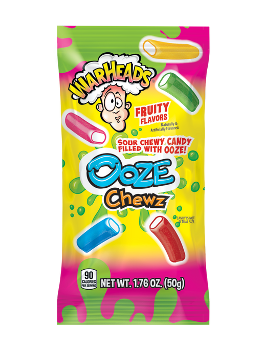 Warheads Ooze Chews Sour Chewy Candy Filled bites 1.76oz
