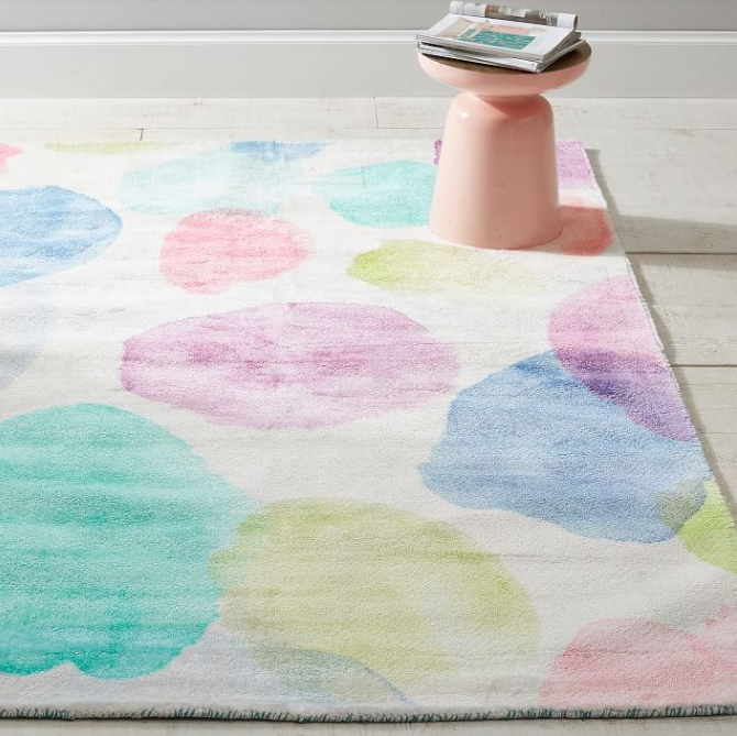 Watercolor Dot Recycled Nylon Rug (sustainably sourced)