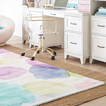 Load image into Gallery viewer, Watercolor Dot Recycled Nylon Rug (sustainably sourced)