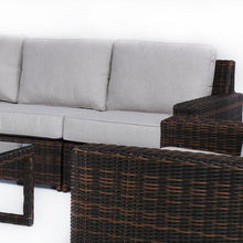 Load image into Gallery viewer, Langdon Outdoor Sofa Set With Swivel Glider Chairs