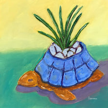 "Load image into Gallery viewer, ""Little Turtle Planter"" fine art print"