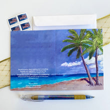 "Load image into Gallery viewer, ""Peaceful Beach"" notecard"