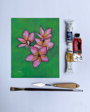 "Load image into Gallery viewer, ""Pink Plumeria"" fine art print"