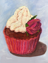 "Load image into Gallery viewer, ""Red Velvet Cupcake"" notecard"