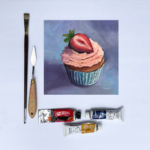 "Load image into Gallery viewer, ""Strawberry Cupcake"" fine art print"