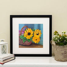 "Load image into Gallery viewer, ""Sunflower Basket"" fine art print"