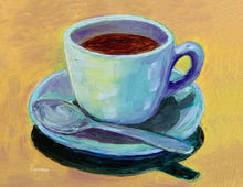 "Load image into Gallery viewer, ""Sunlit Coffee"" notecard"