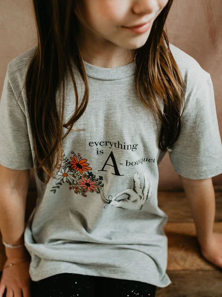 Kids Everything is A-Bouquet Tee