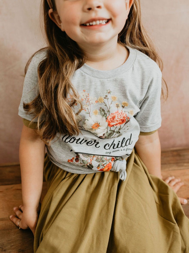 Kids Flower Child My Mom's a Florist Tee