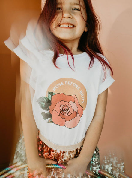 Toddler Rose before Bros Tee