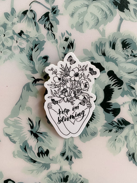 Keep On Blooming Sticker