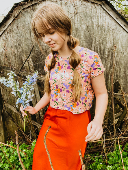 Eloise Wildflower Crop Tee