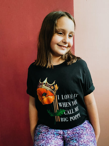 Kids Big Poppy Tee