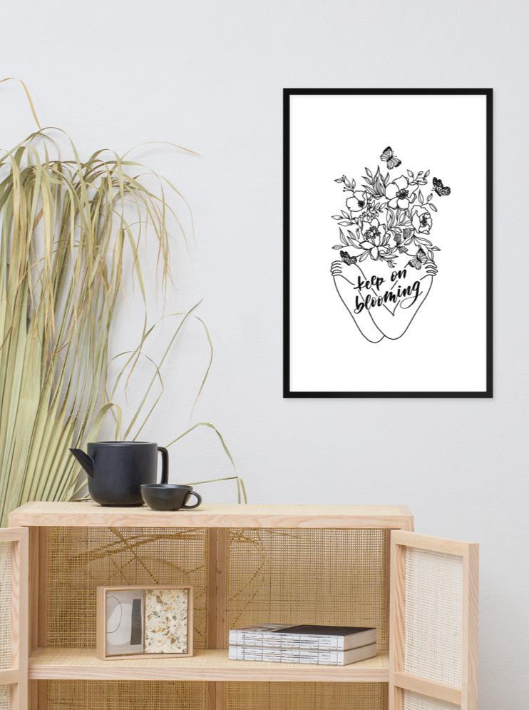 Keep on Blooming framed matte print