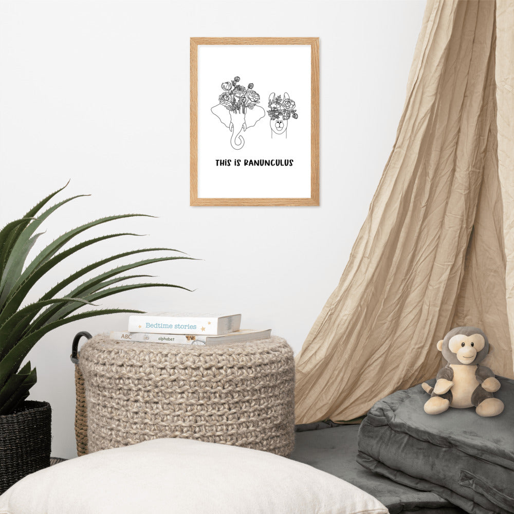 This is Ranunculus framed matte print