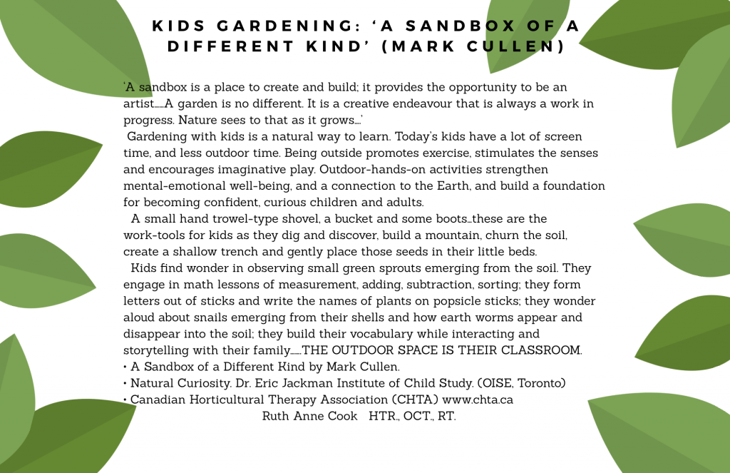Kids Gardening: 'A sand box of a different kind'