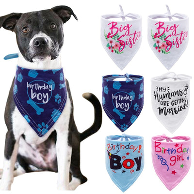 6 colors Dog Bandana Party Bibs