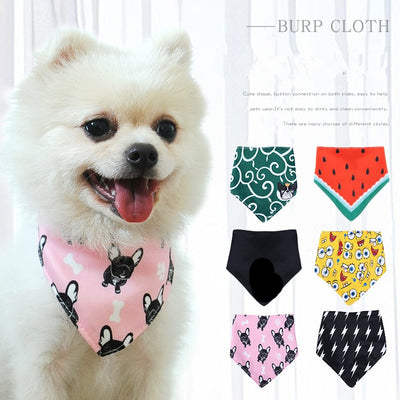 Cute Dog Bandana Bibs