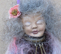 Unique Collectible Art Doll Crone Wise Woman Spirit Doll OOAK Handmade