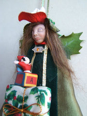 Christmas Fairy angel Fantasy Art Doll Collectible Tradition