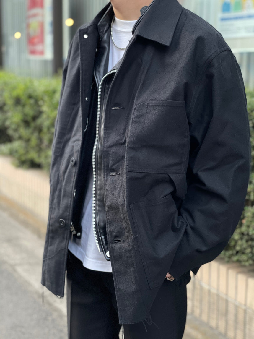 tone RING TWILL COVERALL (Black)