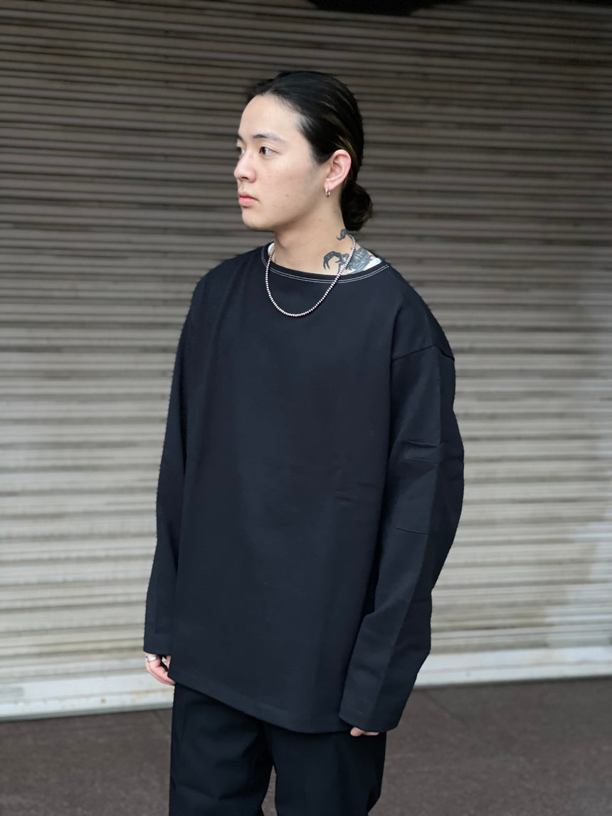 tone BOAT NECK SHIRT (D.navy)