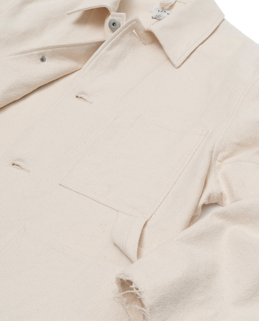tone RING TWILL COVERALL (Natural)