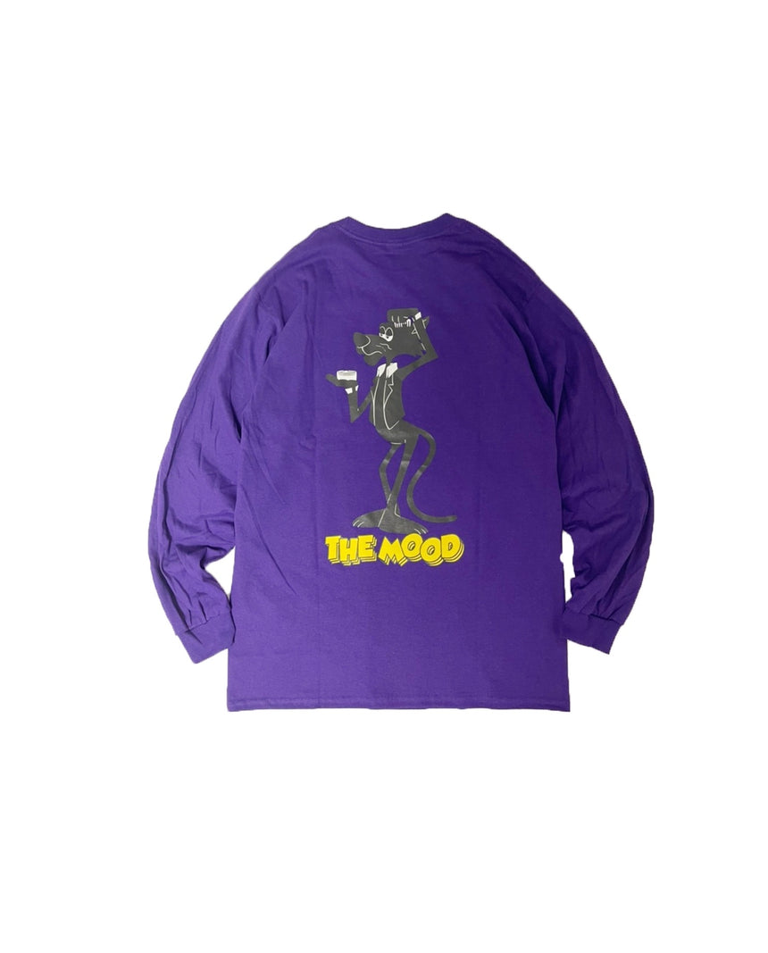"The mood "" Mr.Black Panther pomade "" LS TEE (Purple)"