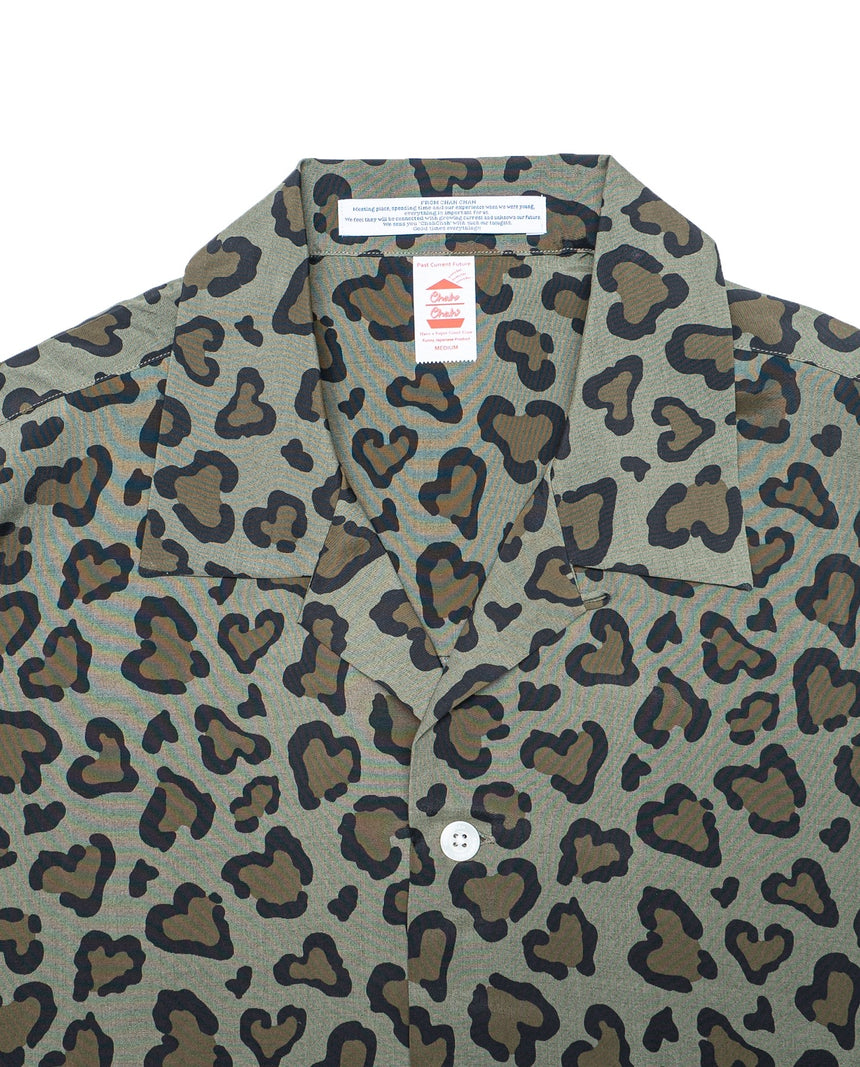 ChahChah HEART LEOPARD CHILL SHIRT (Olive)