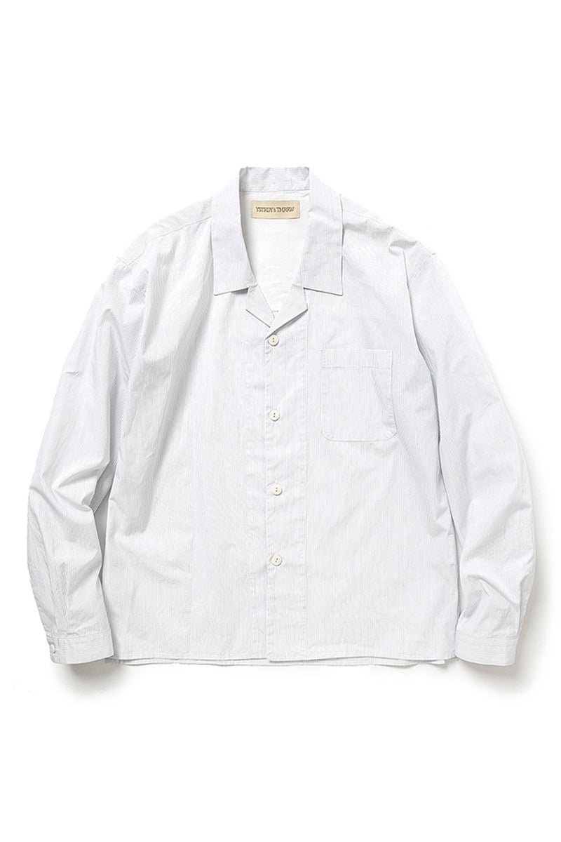 YSTRDY's TMRRW DREAMER SHIRT COTTON BROAD STRIPE (White)