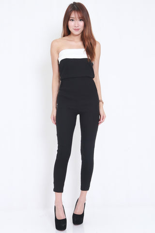 2 Tone Pocket Jumpsuit