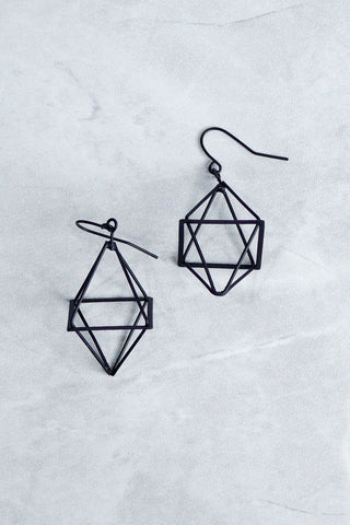 Acia Geometric Earrings (Black)