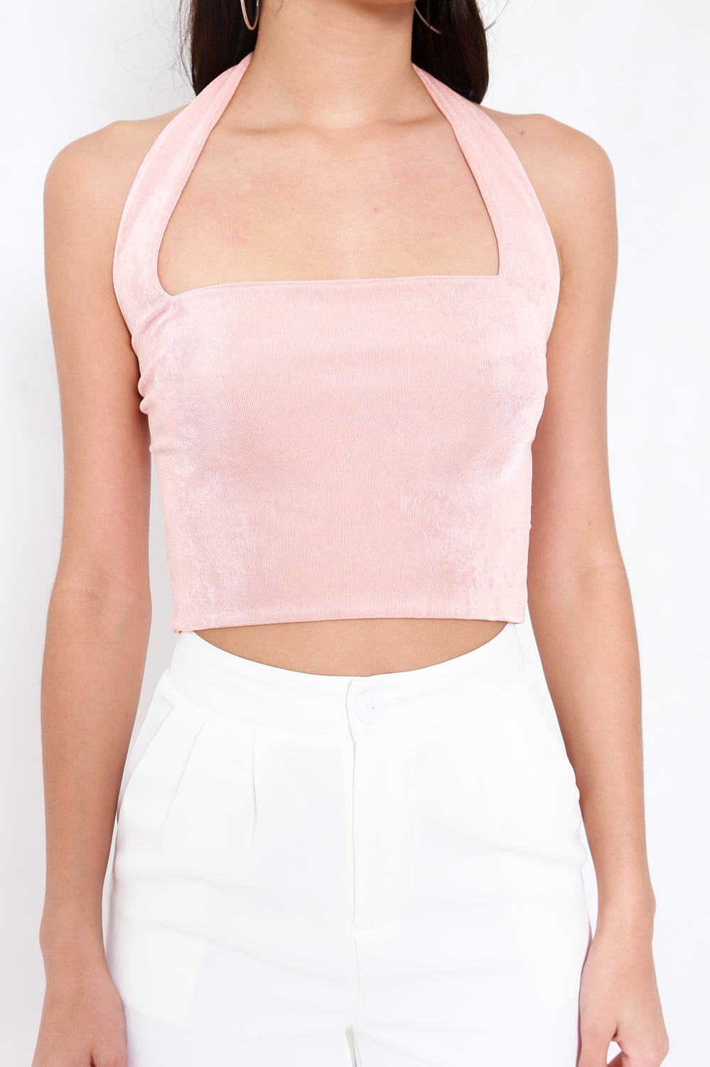 Adrianna Halter Top V2 (Peach)