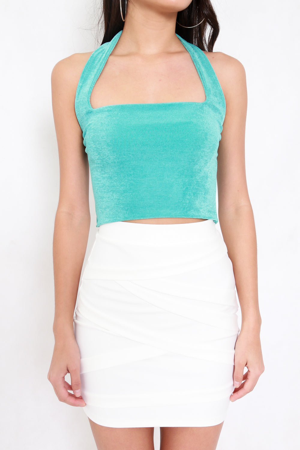 Adrianna Halter Top V2 (Turquoise)