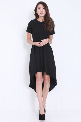 Asymmetrical Curve Tee Dress -  - 2