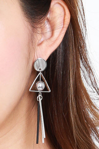 Avena Metal Ball Earrings