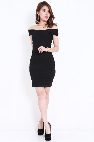 Bandage Knit Dress (Black)