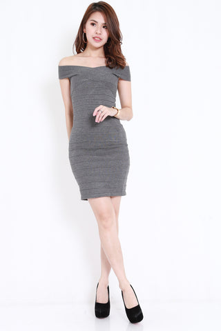 Bandage Knit Dress (Grey)