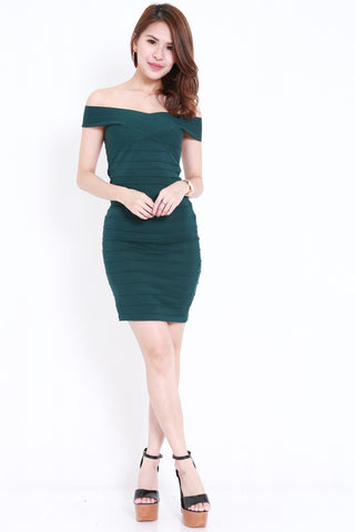 Bandage Knit Dress (Forest)