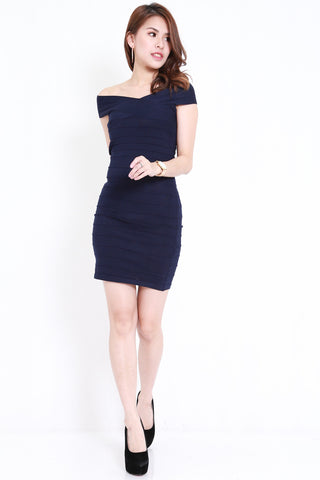 Bandage Knit Dress (Navy)